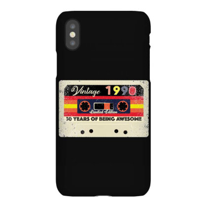 30th Birthday 30 Years 1990 Retro Tape Cassette Iphonex Case Designed By Bettercallsaul