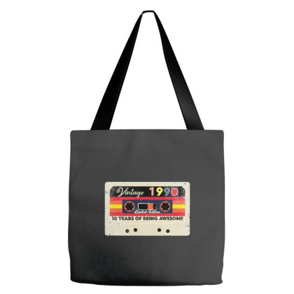 30th Birthday 30 Years 1990 Retro Tape Cassette Tote Bags Designed By Bettercallsaul