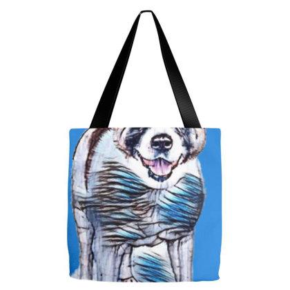 Full Length Portrait Of Akita Tote Bags Designed By Kemnabi