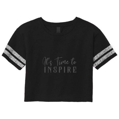 It's Time To Inspire Scorecard Crop Tee Designed By Chiks