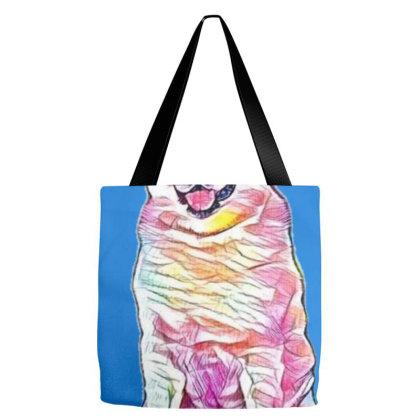 Portrait Of Adorable Akita Do Tote Bags Designed By Kemnabi