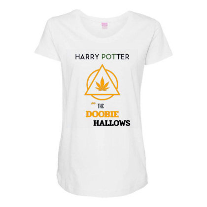 Doobie Hallows Maternity Scoop Neck T-shirt Designed By Darthn00b