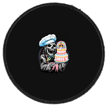 Doom Cake Round Patch Designed By Glitchygorilla