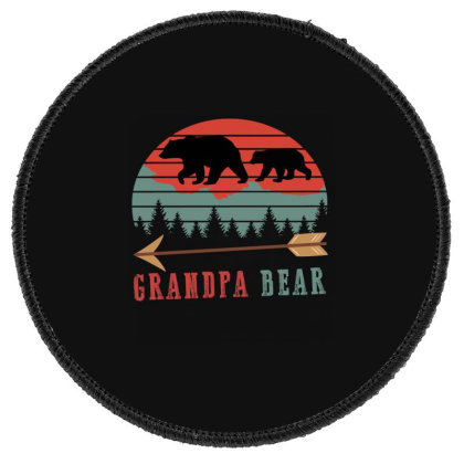 Bear Grandpa Round Patch Designed By Ashlıcar