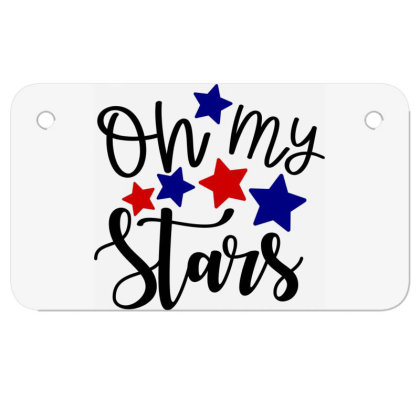 Oh My Stars Motorcycle License Plate Designed By Tht