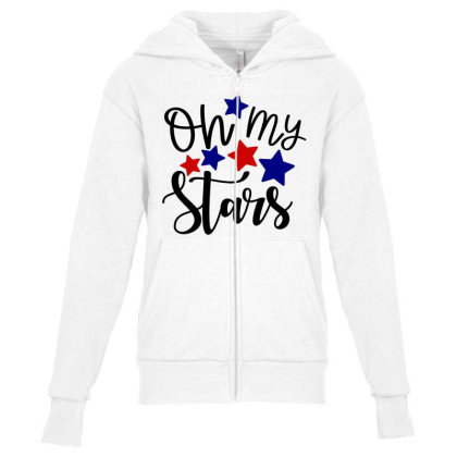 Oh My Stars Youth Zipper Hoodie Designed By Tht