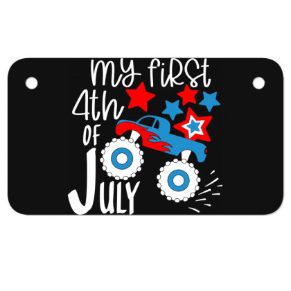 My First 4th Of July Motorcycle License Plate Designed By Tht