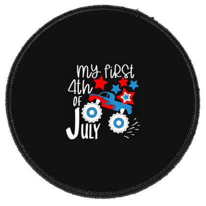 My First 4th Of July Round Patch Designed By Tht