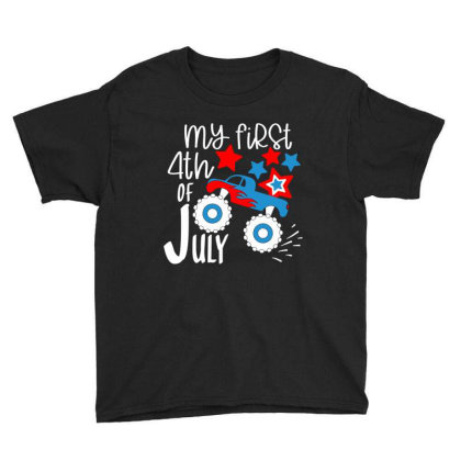 My First 4th Of July Youth Tee Designed By Tht