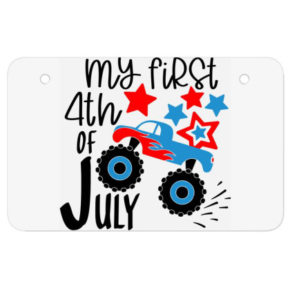 My First 4th Of July Atv License Plate Designed By Tht