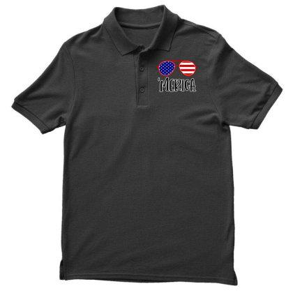 Merica Men's Polo Shirt Designed By Tht