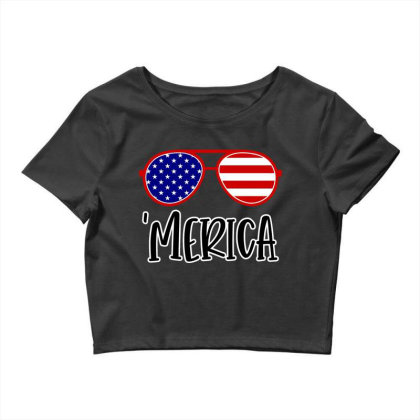 Merica Crop Top Designed By Tht