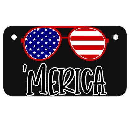 Merica Motorcycle License Plate Designed By Tht