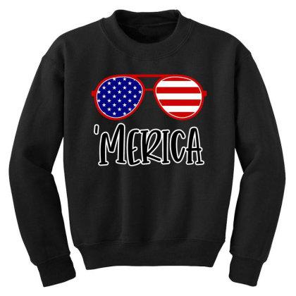 Merica Youth Sweatshirt Designed By Tht