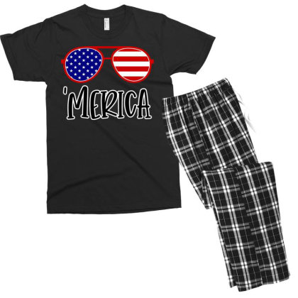 Merica Men's T-shirt Pajama Set Designed By Tht