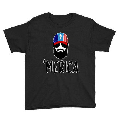 Merica Youth Tee Designed By Tht