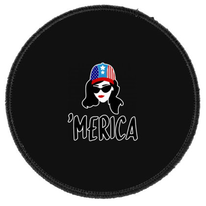 Merica Round Patch Designed By Tht