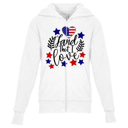 Land That I Love Youth Zipper Hoodie Designed By Tht