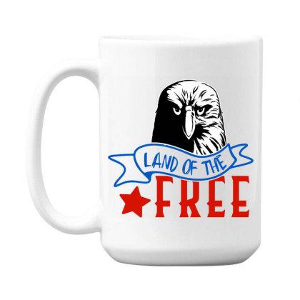 Land Of The Free 15 Oz Coffe Mug Designed By Tht
