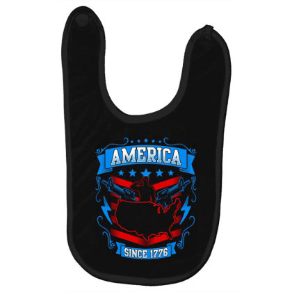Great America Since 1776 Baby Bibs Designed By Tht