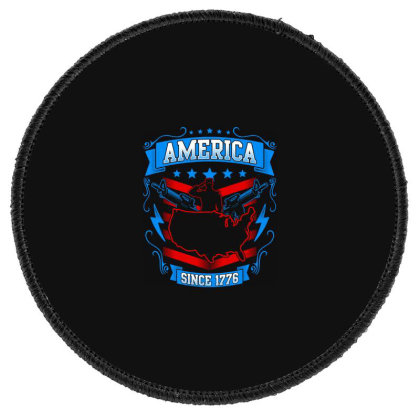 Great America Since 1776 Round Patch Designed By Tht