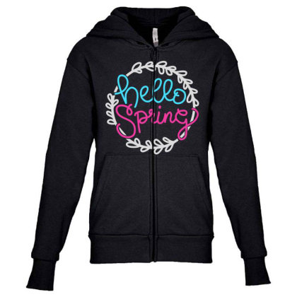 Hellospring Youth Zipper Hoodie Designed By Tht