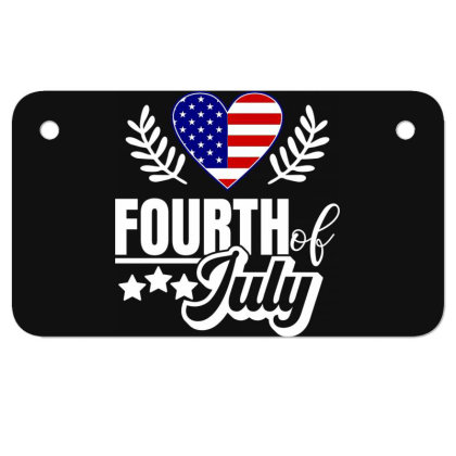 Fourth Of July Motorcycle License Plate Designed By Tht