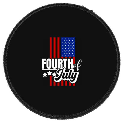 Fourth Of July Round Patch Designed By Tht