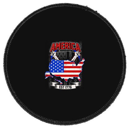 American Themed Round Patch Designed By Tht