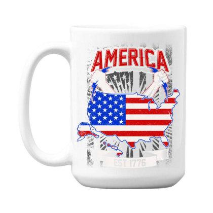 American Themed 15 Oz Coffe Mug Designed By Tht