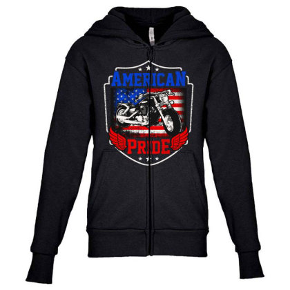 American Pride Youth Zipper Hoodie Designed By Tht