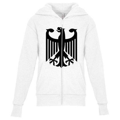 Bundeswehr German Army Eagle Youth Zipper Hoodie Designed By Ampun Dj