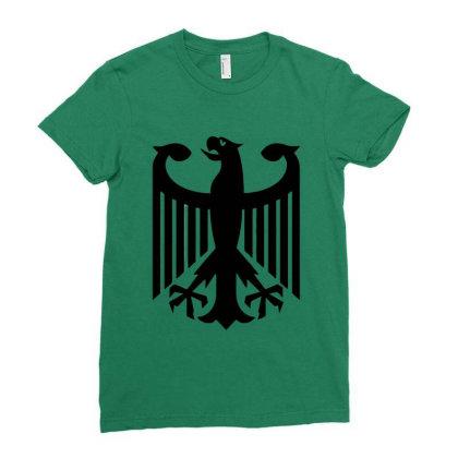 Bundeswehr German Army Eagle Ladies Fitted T-shirt Designed By Ampun Dj