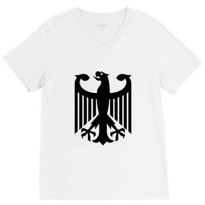 Bundeswehr German Army Eagle V-neck Tee Designed By Ampun Dj