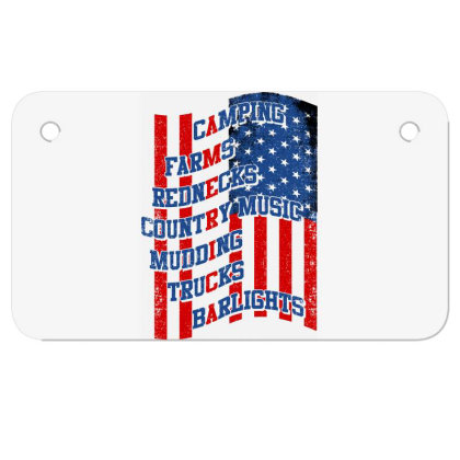 America Motorcycle License Plate Designed By Tht