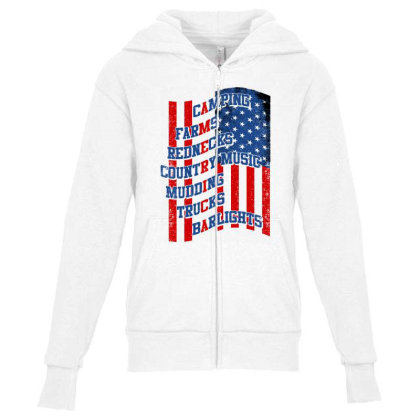 America Youth Zipper Hoodie Designed By Tht
