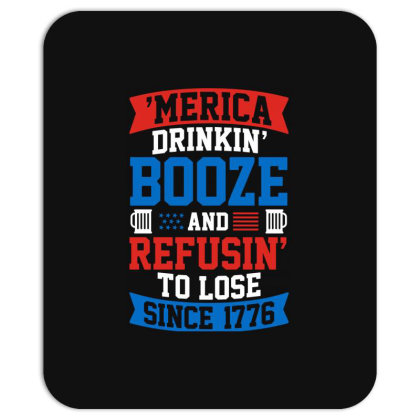 America Drinking Booze Mousepad Designed By Tht
