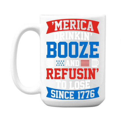 America Drinking Booze 15 Oz Coffe Mug Designed By Tht