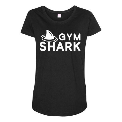 Gym Shark 1 Maternity Scoop Neck T-shirt Designed By G3ry