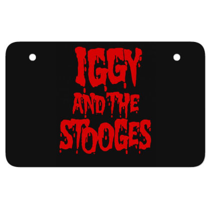 Iggy & The Stooges Shirt, Sticker T Shirt Atv License Plate Designed By Babydoll