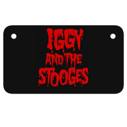 Iggy & The Stooges Shirt, Sticker T Shirt Motorcycle License Plate Designed By Babydoll