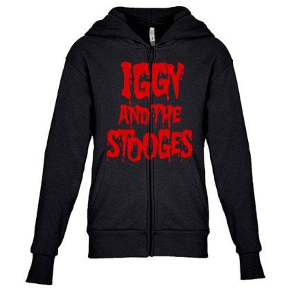 Iggy & The Stooges Shirt, Sticker T Shirt Youth Zipper Hoodie Designed By Babydoll