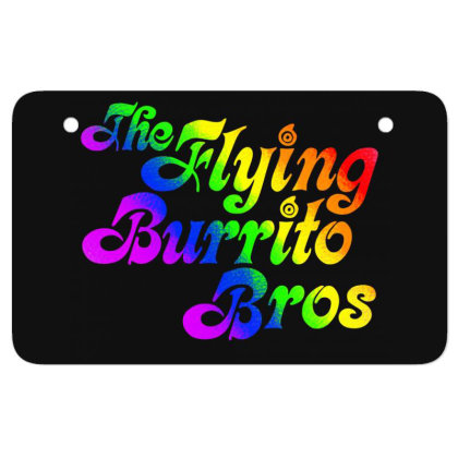 Flying Burrito Brothers Shirt Slim Fit T Shirt Atv License Plate Designed By Babydoll