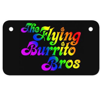 Flying Burrito Brothers Shirt Slim Fit T Shirt Motorcycle License Plate Designed By Babydoll