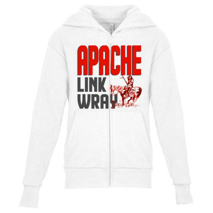 Apache Link Wray Youth Zipper Hoodie Designed By Babydoll