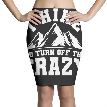 Hiker Mountain Hiking Pencil Skirts Designed By G3ry