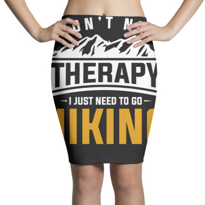 Hiker Therapy Hiking Pencil Skirts Designed By G3ry