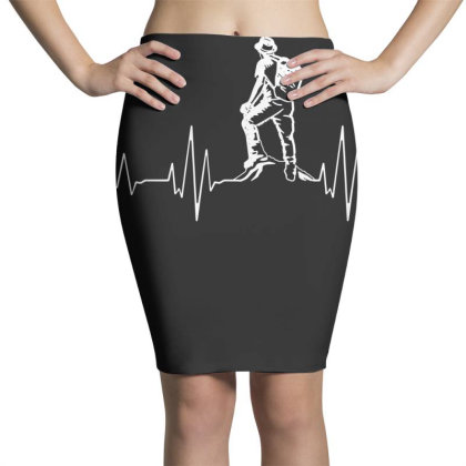 Hiking Heartbeat Hiker Pencil Skirts Designed By G3ry
