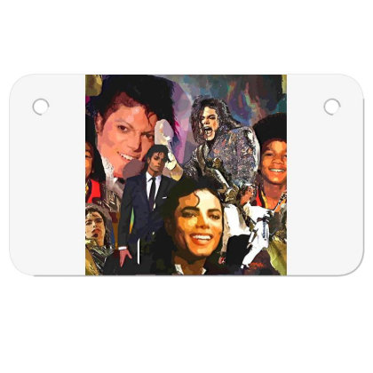 Mj Poster 1 Motorcycle License Plate Designed By Artango