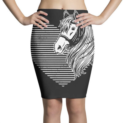 Horse Cute Pet Pony Pencil Skirts Designed By G3ry